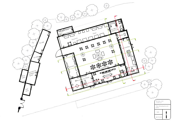 Site Plan Of Delapre Abbey Stables Interior Designer