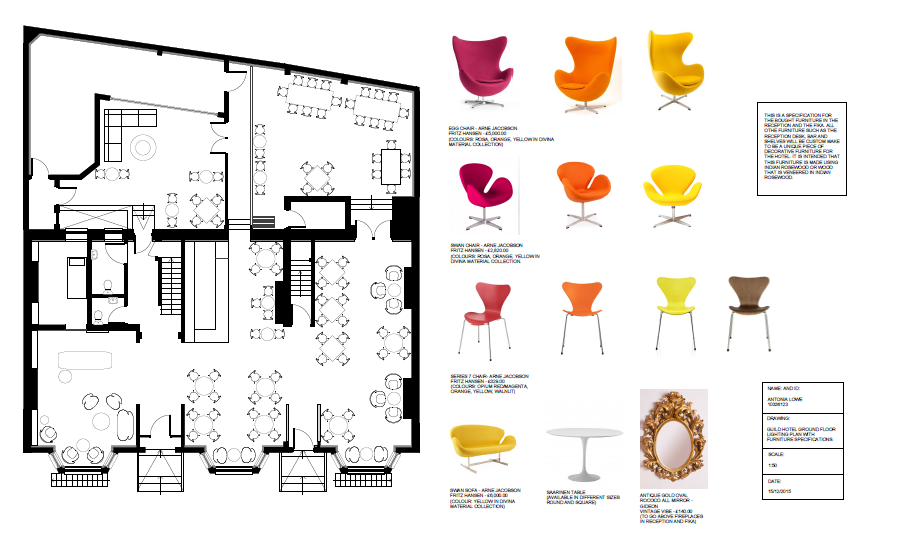 The Guild Hotel Furniture Plans And Specifications Interior