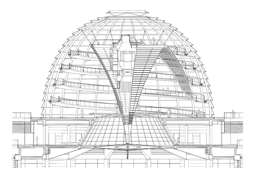Reichstag Roof Extension Foster And Partners Glass