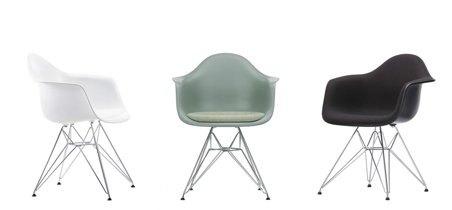 Vitra eames armchair eames plastic armchair daw with for Vitra eames prix