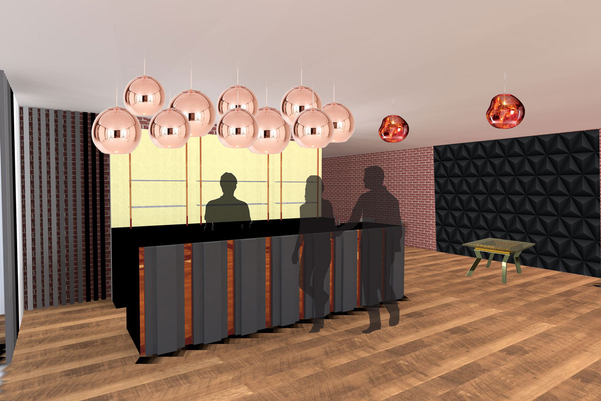 Visual of the basement bar interior designer antonia lowe Bathroom design leamington spa
