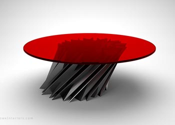 Starstruck Edgy Red Round Table