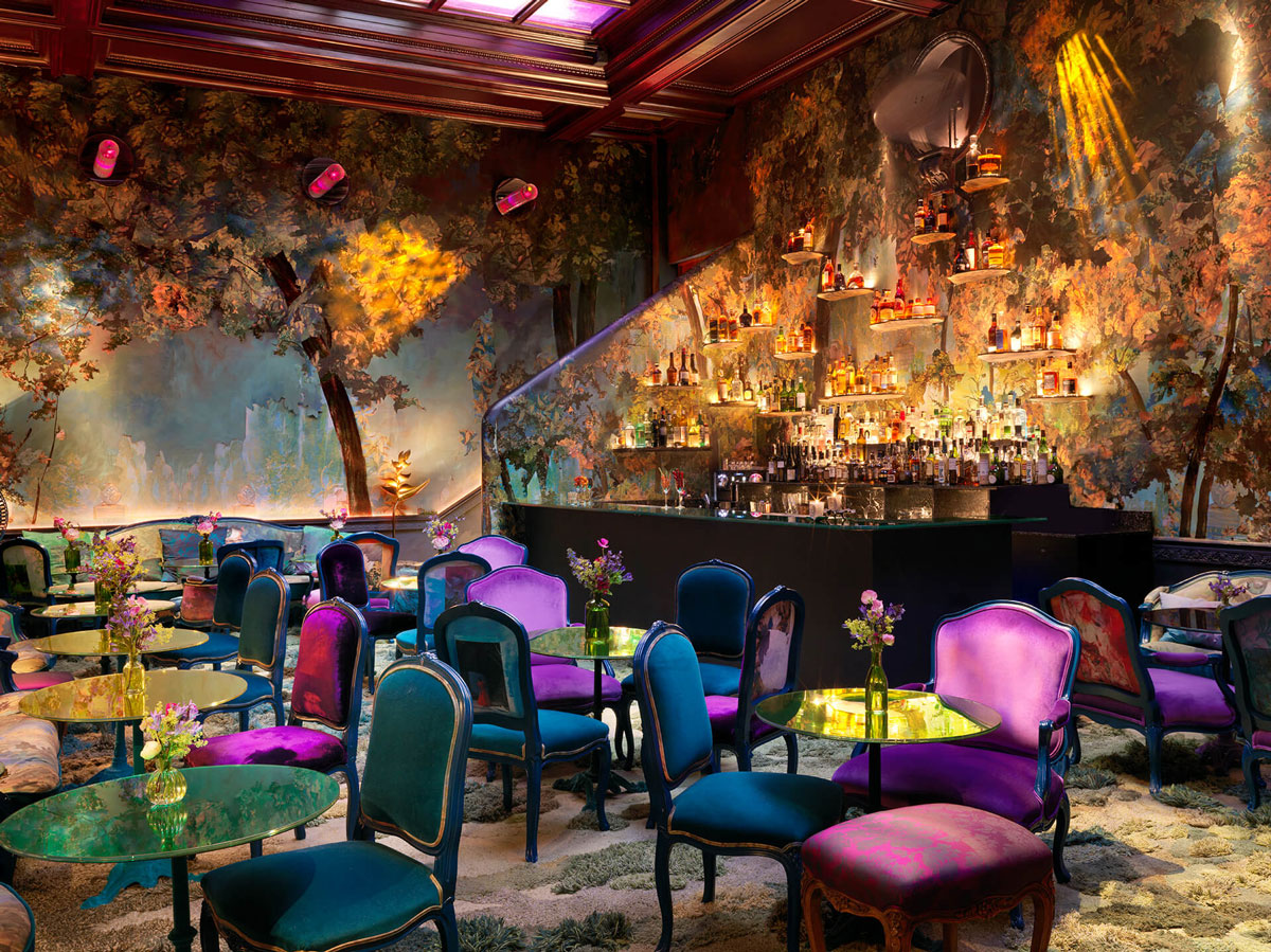 Hotel Interiors The Glade Sketch Immerses Diners In An Enchanted Fantasy