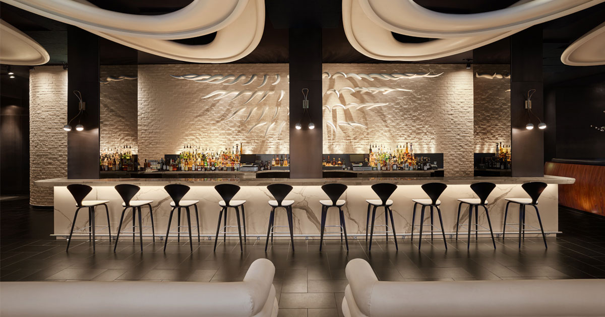 Stk toronto by design agency a dramatic striking elegant for Design agency toronto