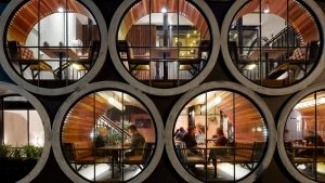 Creating Functional Interior Spaces inside Concrete Pipes – Prahran Hotel