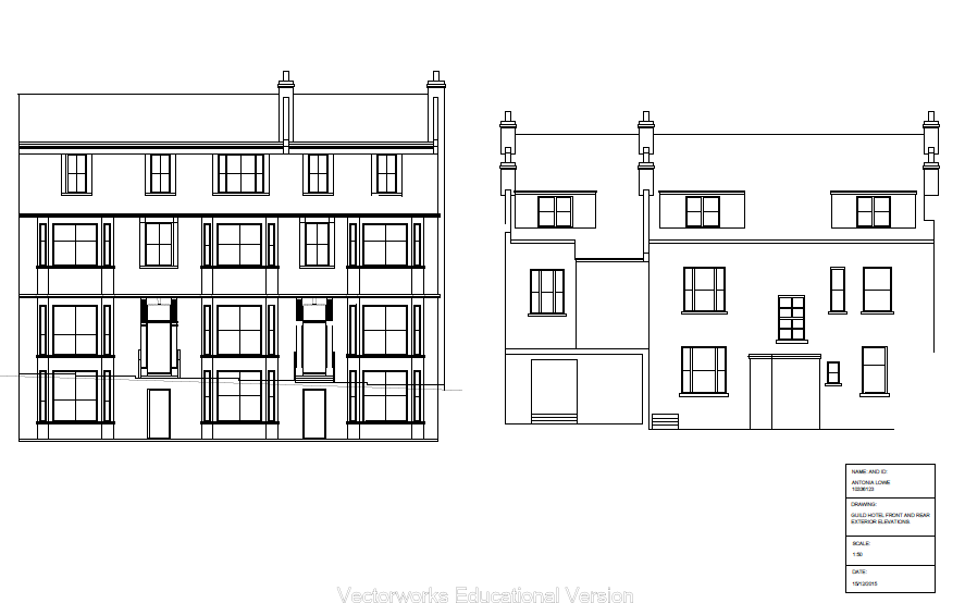 13/15 Guildhall Road Exterior Elevations