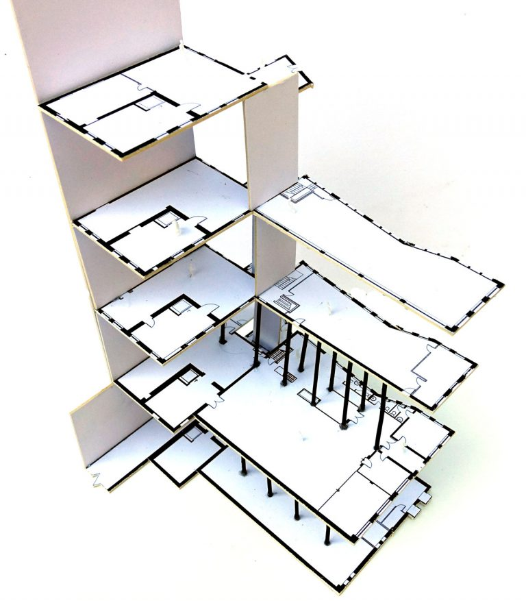Albion Brewery Exploded Sketch Model Showing Internal Structure