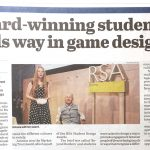 Daventry Express Newspaper – Award-winning student leads way in game design