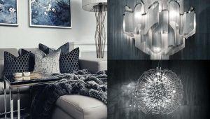 Interior Design Leamington Spa. Luxury modern apartment living room with elegant exquisite materials and hints of blue accents. Beautiful feature lighting pendants used within the interior design.