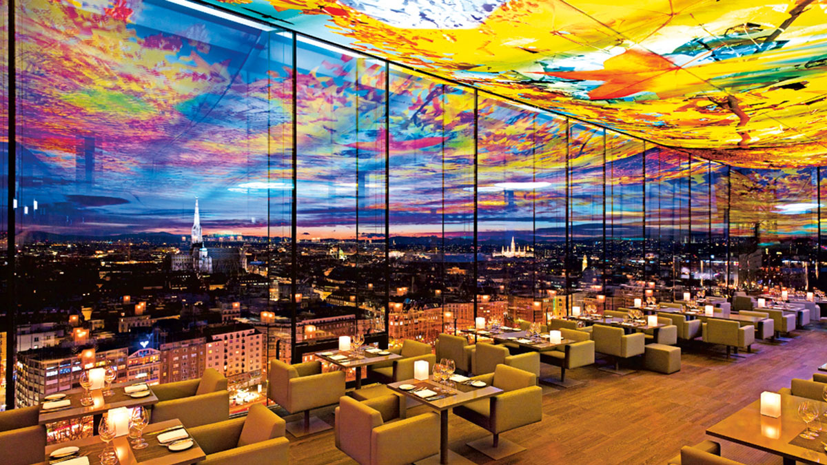 Das Loft Restaurant at the Sofitel Hotel in Viena by Jean Nouvel and Pipilotti Rist – A Vibrant Restaurant with Breathtaking Views in an Artistic City