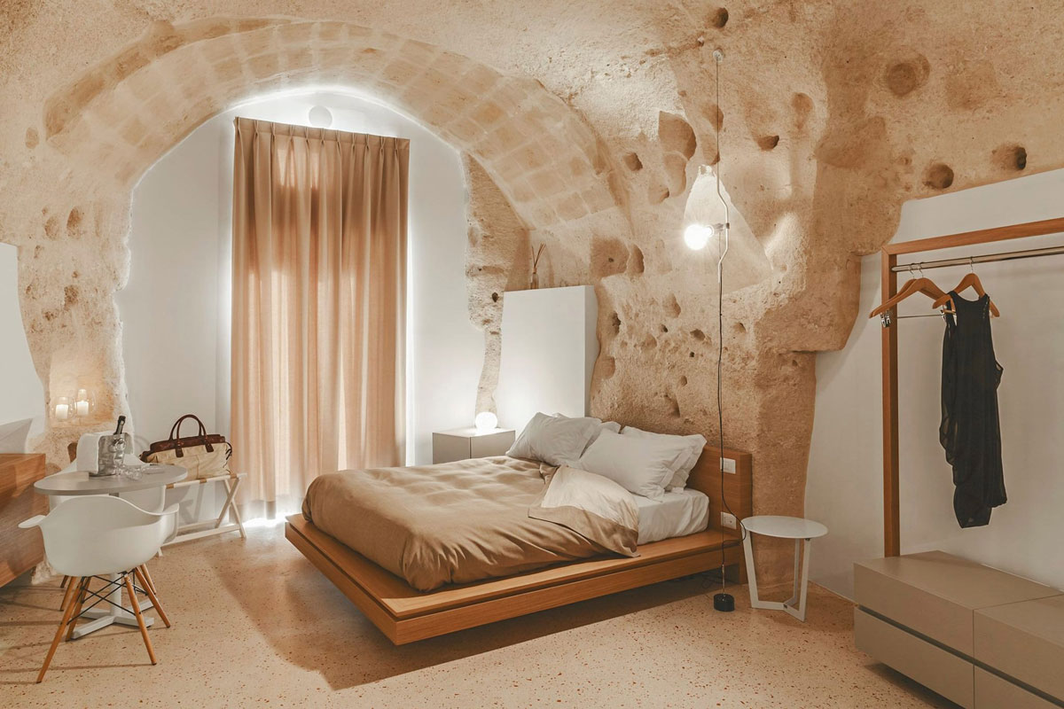 La Dimora di Metello Hotel in Matera, Italy by Manca Studio is a Beautiful Balance of Traditional and Modern Interior Design