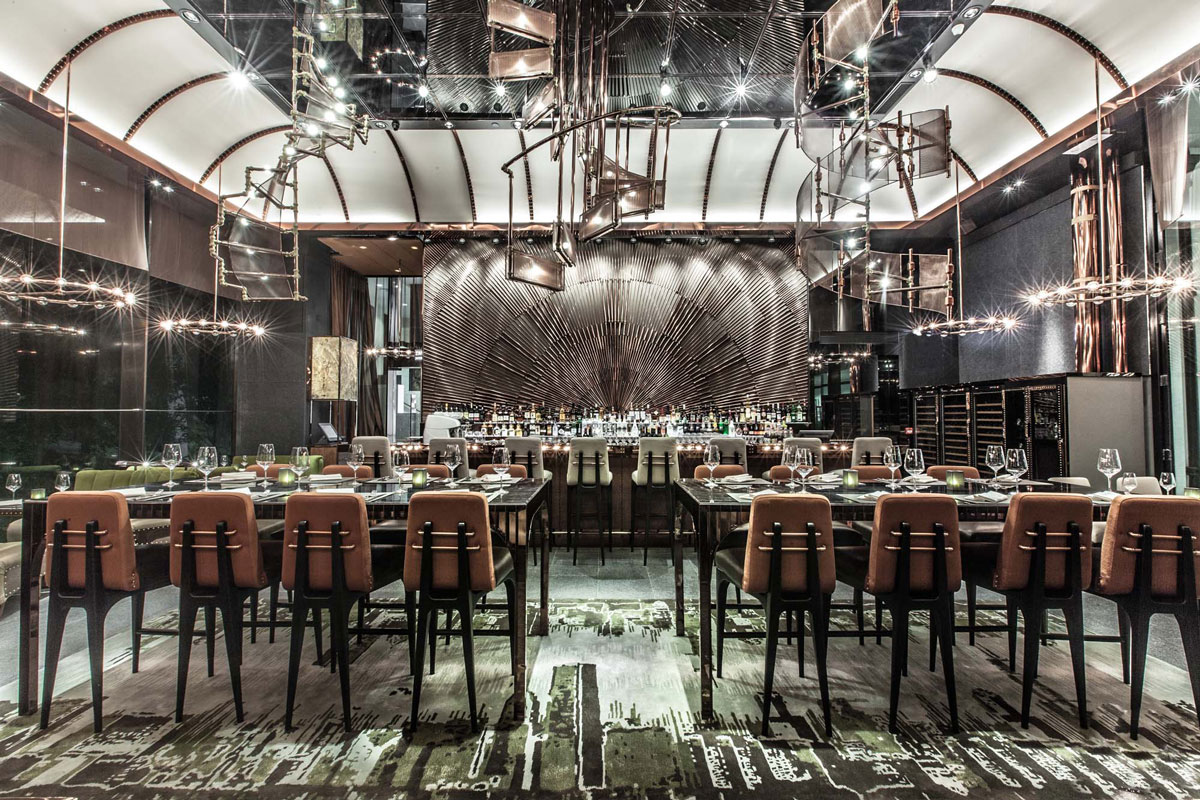 AMMO Restaurant Hong Kong by Wang Studios – Military Chic Creates a Surreal yet Modern Space